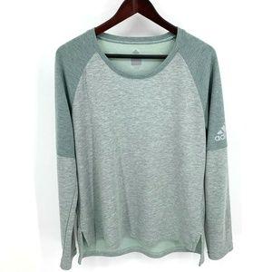 Adidas Climalite Green Long Sleeve Shirt Trefoil
